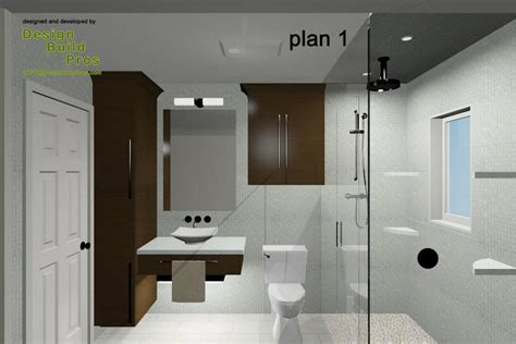 contemporary hall bathroom design construction