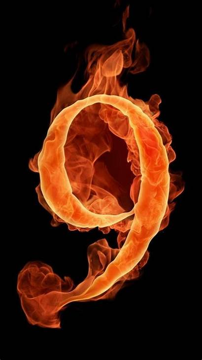 Fire Tech Numbers Flames N9ne Number Wallpapers