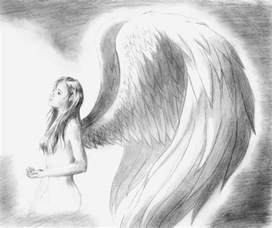 Sad Angel Pencil Drawings