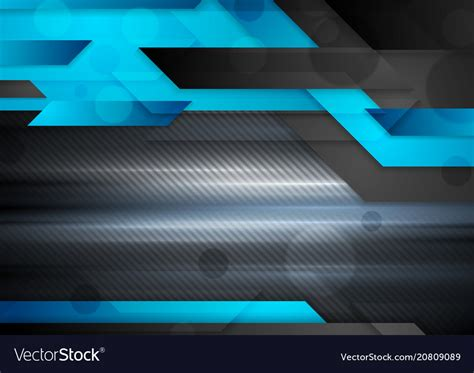 Abstract Black Image Background by Black And Blue Abstract Technology Background Vector Image