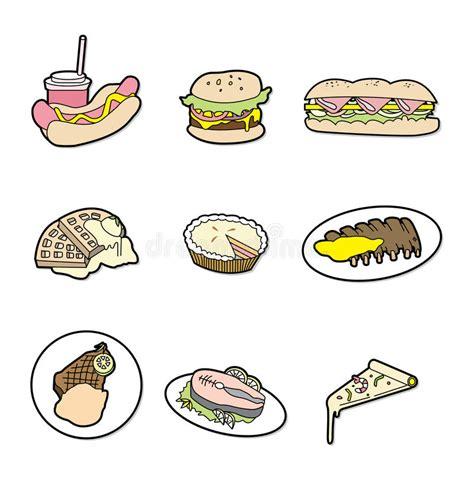 dessin anim cuisine graphisme de nourriture de dessin animé illustration de