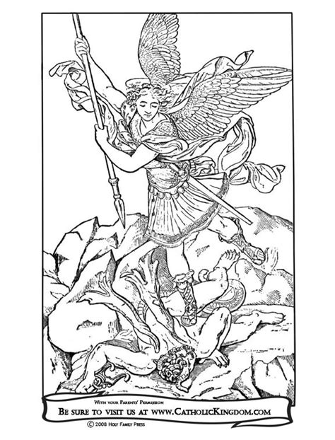Archangel Michael Catholic Coloring Page. The feast of St