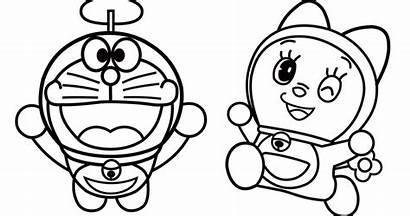 Sketsa Gambar Kartun Mewarnai Doraemon Dan Dorami