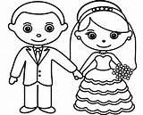Groom Bride Coloring Pages Sheet Drawing Romantic Printable Getdrawings Getcolorings sketch template