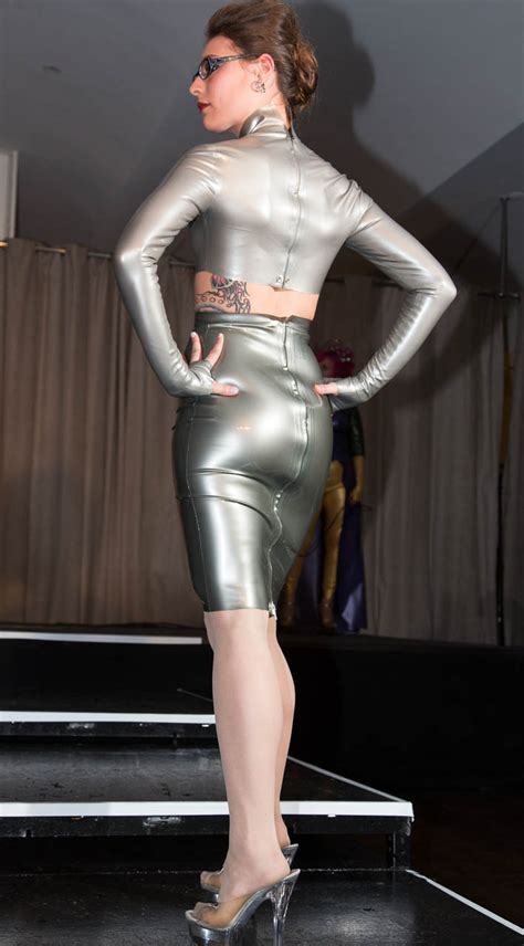 baroness latex fashion show   rubber world  latex rubber clothing fetish