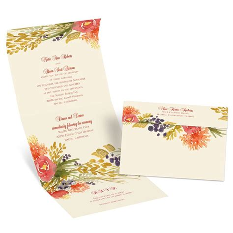 fall florals seal  send invitation anns bridal bargains