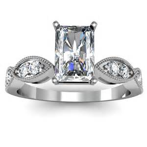 radiant engagement rings radiant cut pave engagement ring engagement rings review