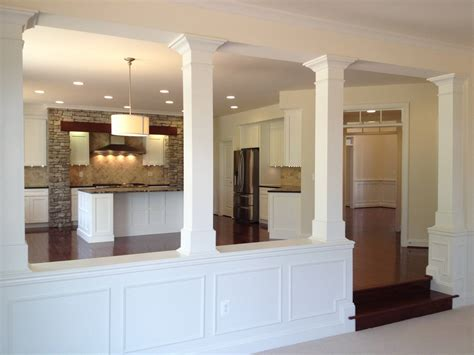 kitchen half wall ideas affordable half wall with column and basement columns
