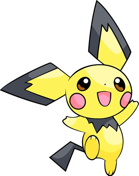 pokemon type chart shiny pichu pokédex stats moves evolution locations