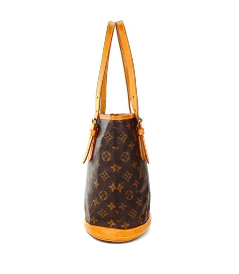 louis vuitton bucket pm monogram canvas leather shoulder
