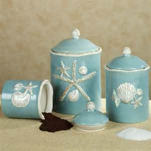 Turquoise Kitchen Canisters Coastal Canisters Coastal Decorative Accessories Countertops Make Time And