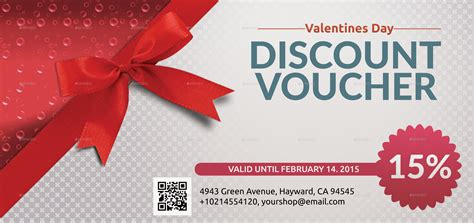 valentines discount voucher template  utpal