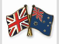 Crossed Flag Pins GreatBritainAustralia Flags