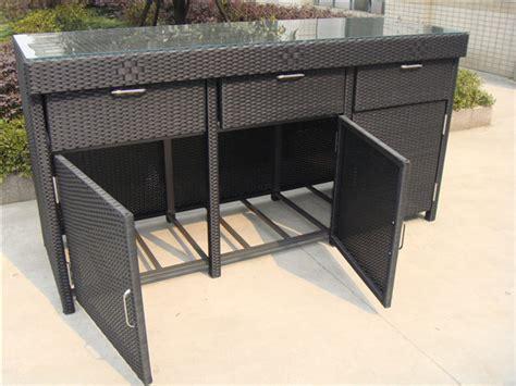 aluminum frame rattan bar table cheap rattan cabinet buy