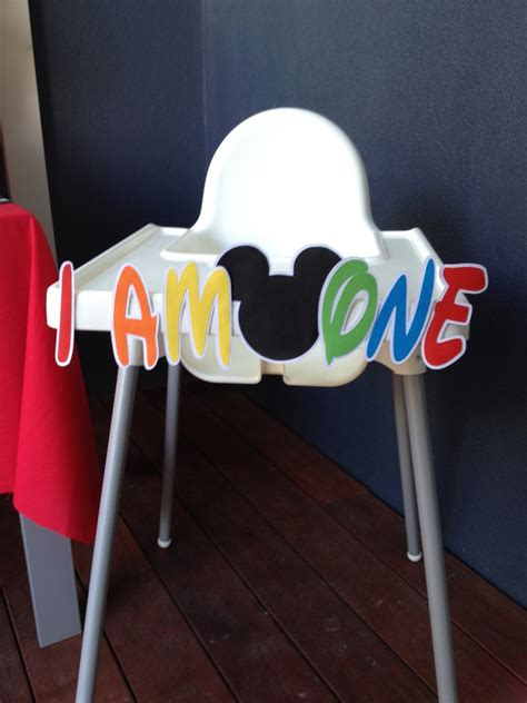 Mickey Mouse High Chair Decorations - how to make a mickey mouse high chair banner with free