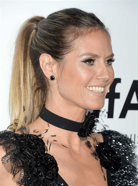 Heidi Klum The Amfar Gala Los Angeles Beverly