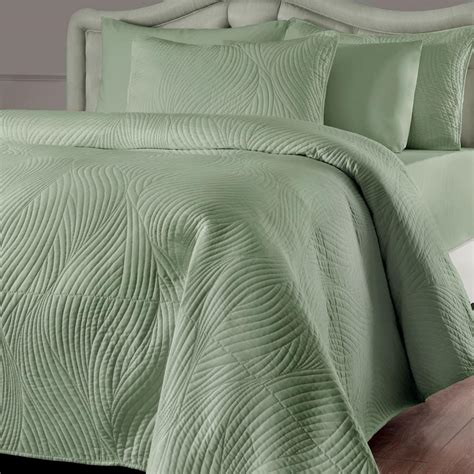 Contemporary Quilts And Coverlets by Gorgeous Simply Modern Textured Swirl Quilt Coverlet