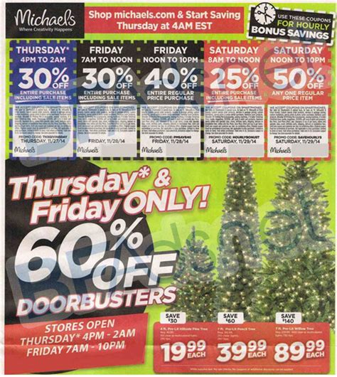 michael s 2014 black friday ad great deals on christmas