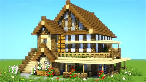 minecraft houses best survival house tutorial how to build an