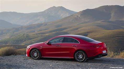 The most important optional exterior features:amg aerodynamic package for optimised aerodynamic balance, included a modified front splitter and additional. 2020 Mercedes-AMG CLA 45 (Color: Jupiter Red) - Side | HD ...