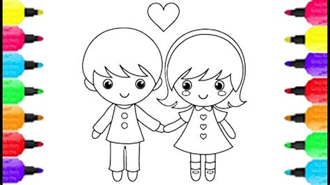 boy  girl coloring pages   draw