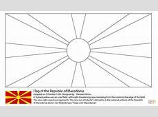 Flag of Macedonia coloring page Free Printable Coloring