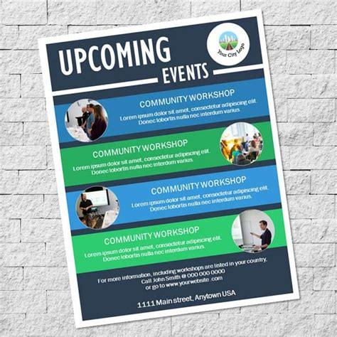 Upcoming Events Flyer Template - State of the City ...