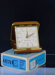 Westclox Japan Wind Up Travel Alarm Clock Tourino 44270