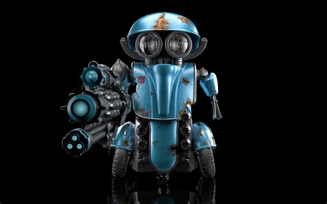 Transformers 5 Squeeks Blue Robot, Hd 4k Wallpaper