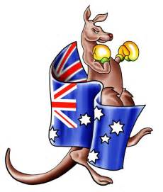 Boxing Kangaroo Drawings