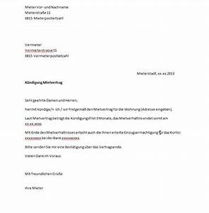 Kündigungsschreiben Wohnung Mieter : muster k ndigungsschreiben wohnung ~ Lizthompson.info Haus und Dekorationen