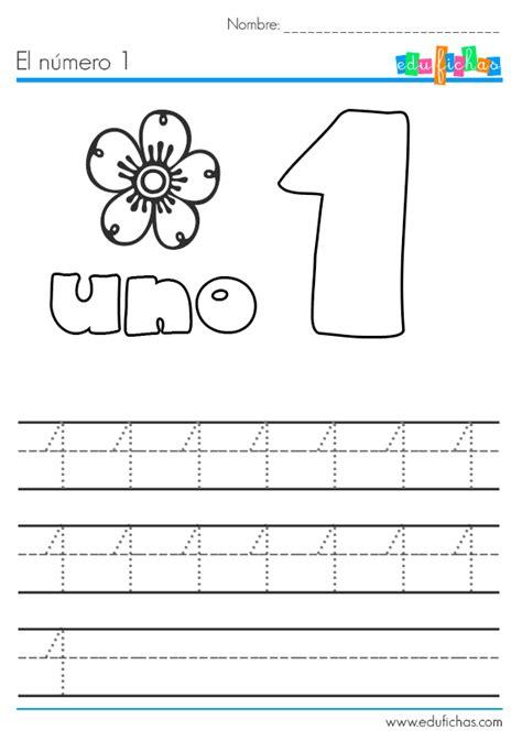 El número 1 Fichas con actividades para aprender los números