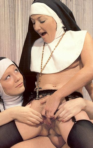 Two Slutty Retro Nuns Sharing The Gardener Xxx Dessert