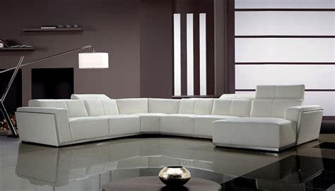 divani casa tempo contemporary leather sectional sofa