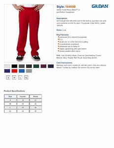 Gildan Youth Size Chart Gildan 18400b Youth Heavy Blend Open Bottom Sweatpants