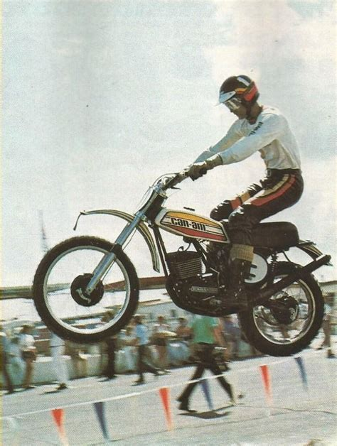 can am motocross bikes 1975 gary jones aboard a can am motocross 39 70 39 80