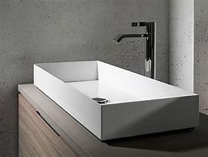 Grande Vasque À Poser : grande vasque poser 100 cm avec 2 trous de robinets brillant 6 salle de bains salle de bain ~ Melissatoandfro.com Idées de Décoration