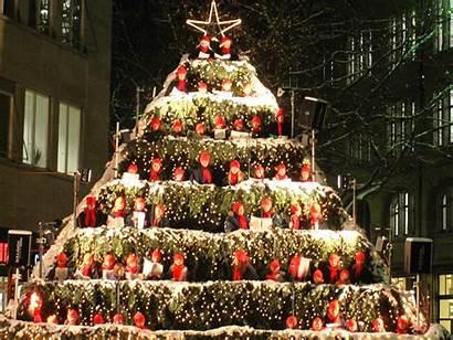 Christmas Singing Zurich Tree Switzerland Carol Tis