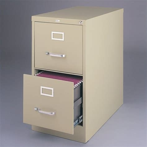 hirsh 2 drawer letter file cabinet features