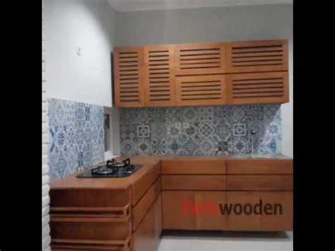 kitchen set kayu jati belanda wa    youtube