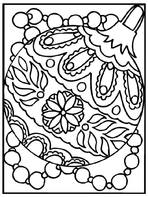 christmas ornaments coloring pages ornament coloring page crayola
