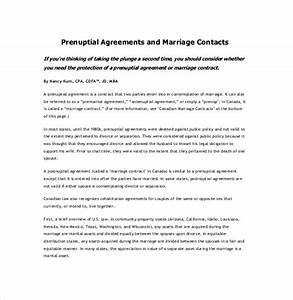 10 prenuptial agreement templates free sample example With free prenuptial agreement template canada