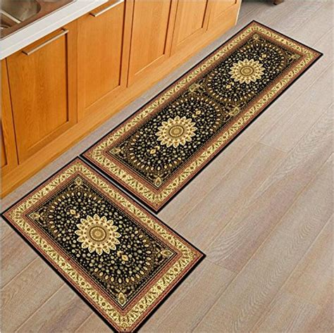 piece print kitchen rug set cute rug soft floor runner