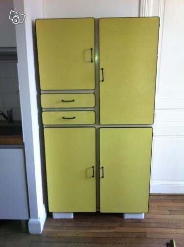 meuble cuisine jaune meuble buffet formica jaune ameublement meurthe et moselle