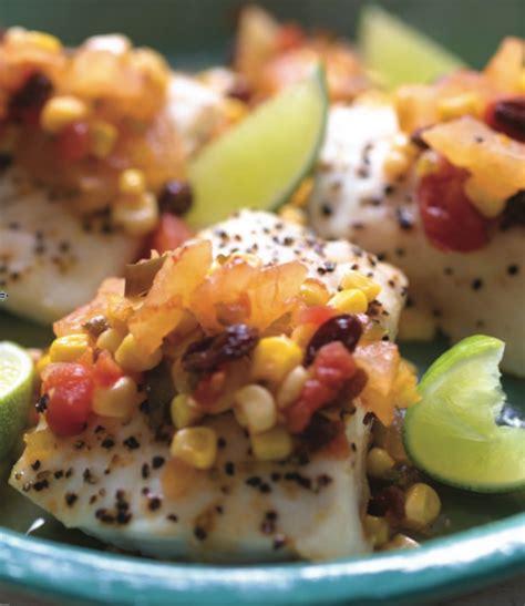 chutney pineapple grouper fish corn kosher