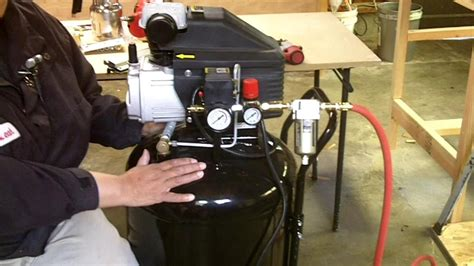 Air Compressor, Line Setup And How To Use Air Tools For