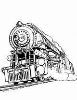 Train Steam Coloring Pages Colouring Railroad Awesome Drawings Netart 87kb 779px sketch template