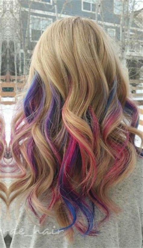 Blonde Pink Purple Streak Dyed Hair Taylorraehair