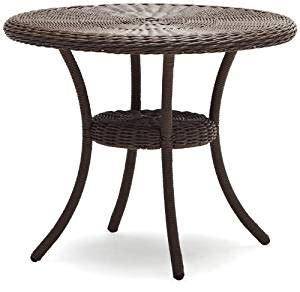 table ronde en resine tressee strathwood hayden all weather wicker table