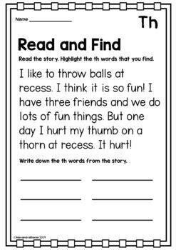 digraph worksheets  terrific teaching tactics tpt